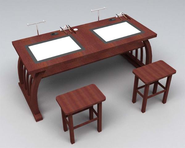 书法桌子手绘图
